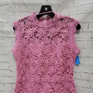 Primary Photo - BRAND: NANETTE LEPORE STYLE: TOP SHORT SLEEVE COLOR: PINK SIZE: M OTHER INFO: LACE SKU: 115-115347-2550