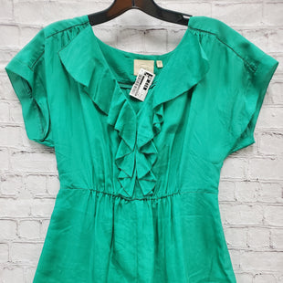 Primary Photo - BRAND: ANTHROPOLOGIE STYLE: TOP SHORT SLEEVE COLOR: GREEN SIZE: 4 SKU: 115-115302-16696