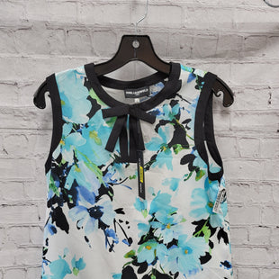 Primary Photo - BRAND: KARL LAGERFELD STYLE: TOP SLEEVELESS COLOR: WHITE BLUE SIZE: S SKU: 115-115336-4324