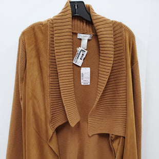 Primary Photo - BRAND: CJ BANKS STYLE: SWEATER CARDIGAN HEAVYWEIGHT COLOR: CAMEL SIZE: 2X SKU: 115-115340-2308