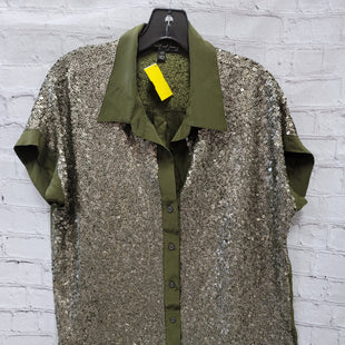 Primary Photo - BRAND: ELIZABETH AND JAMES STYLE: TOP SHORT SLEEVE COLOR: GREEN SIZE: M OTHER INFO: SEQUIN - HEAVY SKU: 115-115309-17570