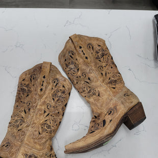Primary Photo - BRAND: CORRAL STYLE: BOOTS ANKLE COLOR: TAN SIZE: 9.5 OTHER INFO: POINT TOE SKU: 115-115314-11845
