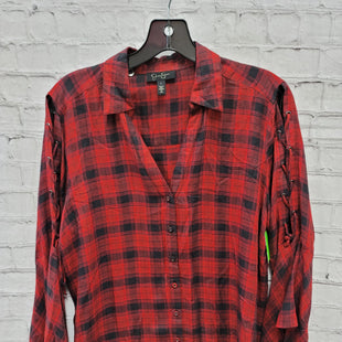 Primary Photo - BRAND: JESSICA SIMPSON STYLE: TOP LONG SLEEVE COLOR: PLAID SIZE: L SKU: 115-115260-94465