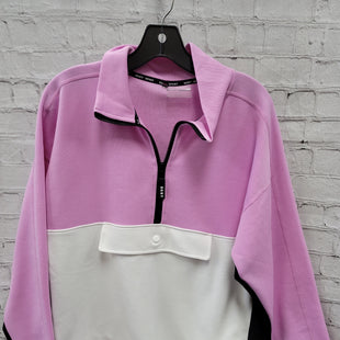 Primary Photo - BRAND: DKNY STYLE: SWEATSHIRT HOODIE COLOR: PINKBLACK SIZE: M OTHER INFO: NO HOOD - WHITE SKU: 115-115309-20728