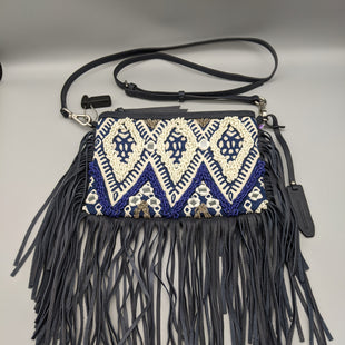 Primary Photo - BRAND: REBECCA MINKOFF STYLE: HANDBAG COLOR: BLUE WHITE SIZE: SMALL OTHER INFO: BEADING + FRINGE SKU: 115-115309-21484