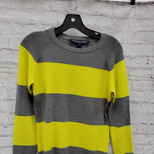 Primary Photo - BRAND: FRENCH CONNECTION STYLE: SWEATER LIGHTWEIGHT COLOR: GREY SIZE: M OTHER INFO: NEON STRIPES SKU: 115-115347-2678
