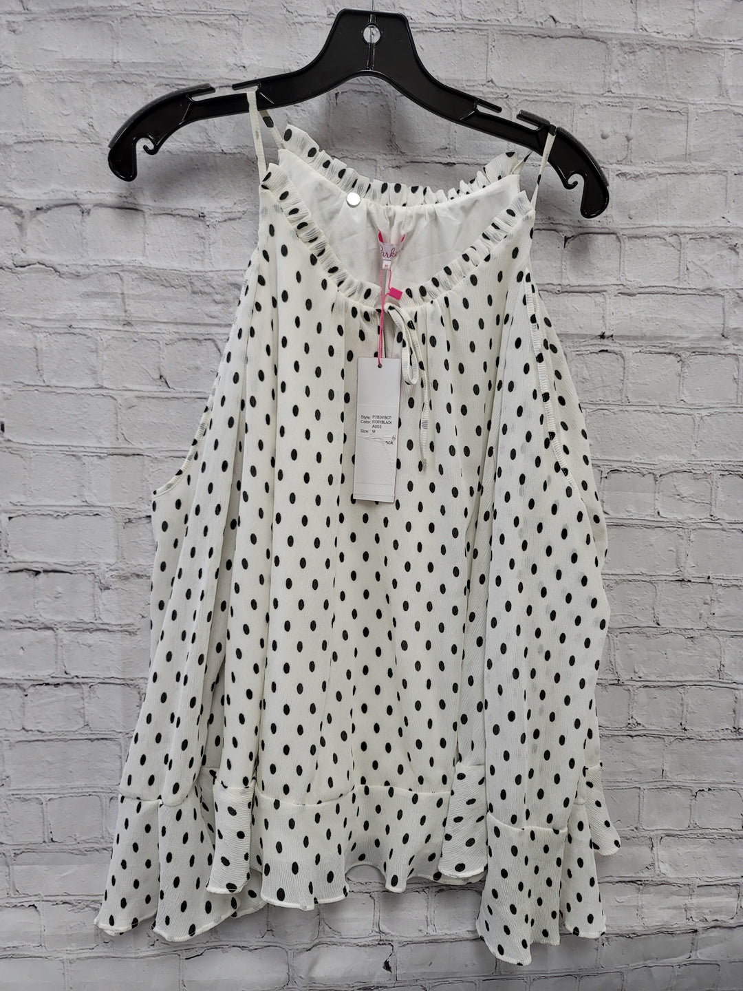 Primary Photo - BRAND:    CLOTHES MENTOR <BR>STYLE: TOP LONG SLEEVE <BR>COLOR: DOTS <BR>SIZE: M <BR>OTHER INFO: PARKER - NWT <BR>SKU: 115-115302-15143