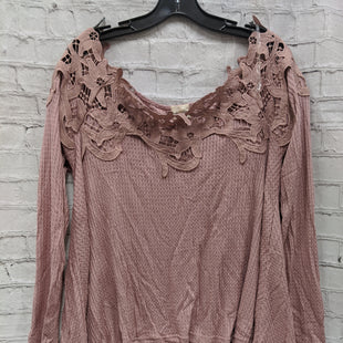 Primary Photo - BRAND:    CLOTHES MENTOR STYLE: TOP LONG SLEEVE COLOR: DUSTY PINK SIZE: S OTHER INFO: LOVELY MELODY - SKU: 115-115336-2768