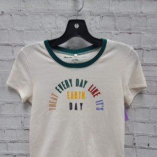 Primary Photo - BRAND: MADEWELL STYLE: TOP SHORT SLEEVE COLOR: CREAM SIZE: XXS OTHER INFO: EARTH DAY SKU: 115-115347-3810