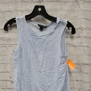 Primary Photo - BRAND: BANANA REPUBLIC STYLE: TOP SLEEVELESS COLOR: WHITE BLUE SIZE: XS SKU: 115-115338-4224