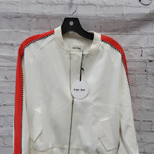 Primary Photo - BRAND:    CLOTHES MENTOR STYLE: BLAZER JACKET COLOR: WHITE ORANGE SIZE: S OTHER INFO: LINE AND DOT - SKU: 115-115340-4424