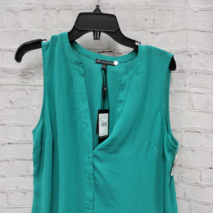 Primary Photo - BRAND: ADRIANNA PAPELL STYLE: TOP SLEEVELESS COLOR: GREEN SIZE: L OTHER INFO: NEW! SKU: 115-115314-9258