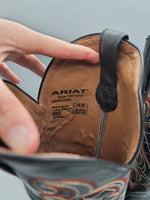 Photo #4 - BRAND: ARIAT <BR>STYLE: BOOTS KNEE <BR>COLOR: BLACK <BR>SIZE: 9 <BR>OTHER INFO: RED AND ORANGE STICHING <BR>SKU: 115-115314-11134