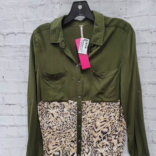 Primary Photo - BRAND: FREE PEOPLE STYLE: TOP LONG SLEEVE COLOR: GREEN SIZE: S OTHER INFO: TAN BOTTOM SKU: 115-115309-18229