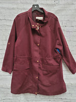 Primary Photo - BRAND: AVA & VIV <BR>STYLE: JACKET OUTDOOR <BR>COLOR: MAROON <BR>SIZE: 2X <BR>SKU: 115-115302-17499