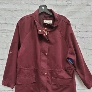 Primary Photo - BRAND: AVA & VIV STYLE: JACKET OUTDOOR COLOR: MAROON SIZE: 2X SKU: 115-115302-17499