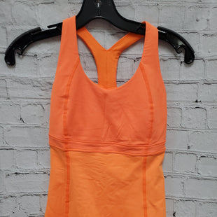 Primary Photo - BRAND: LULULEMON STYLE: ATHLETIC TANK TOP COLOR: ORANGE SIZE: XS SKU: 115-115347-673WEAR UNDER THE ARMS