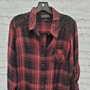 Primary Photo - BRAND: LANE BRYANT STYLE: TOP LONG SLEEVE COLOR: PURPLE SIZE: XL OTHER INFO: PLAID SKU: 115-115335-3049
