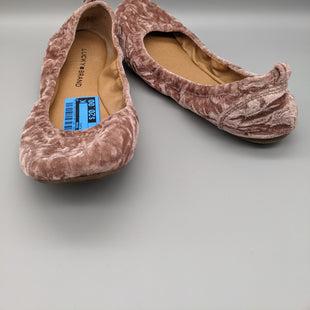 Primary Photo - BRAND: LUCKY BRAND STYLE: SHOES FLATS COLOR: PINK SIZE: 8 OTHER INFO: VELVET SKU: 115-115309-18051