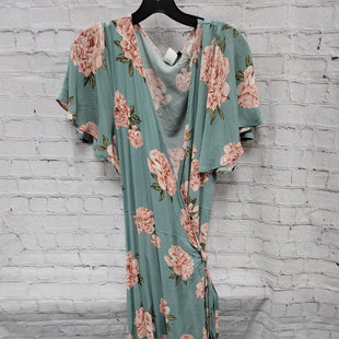 Primary Photo - BRAND:   CMC STYLE: DRESS LONG SHORT SLEEVE COLOR: SEAFOAM SIZE: L OTHER INFO: LOVING PEOPLE - FLORAL-WRAP DRESS SKU: 115-115309-21249