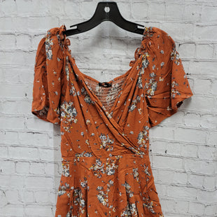 Primary Photo - BRAND:    CLOTHES MENTOR STYLE: DRESS SHORT SHORT SLEEVE COLOR: ORANGE SIZE: S OTHER INFO: LA CHARME U - JUMPSUIT SKU: 115-115360-2466