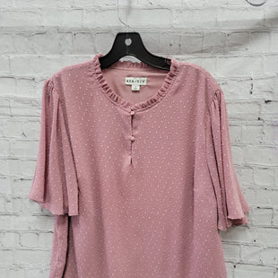 Primary Photo - BRAND: AVA & VIV STYLE: TOP SHORT SLEEVE COLOR: PINK SIZE: 1X SKU: 115-115347-1920