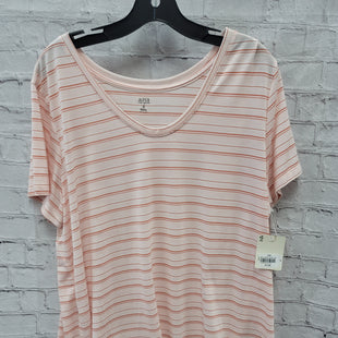 Primary Photo - BRAND: ANA STYLE: TOP SHORT SLEEVE COLOR: LIGHT PINK SIZE: 1X OTHER INFO: ORANGE STRIPES SKU: 115-115338-3262