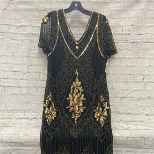 Primary Photo - BRAND:    CLOTHES MENTOR STYLE: DRESS SHORT SHORT SLEEVE COLOR: BLACK SIZE: XXL OTHER INFO: PRETTY GUIDE - GOLD - FLAPPER SKU: 115-115309-19832