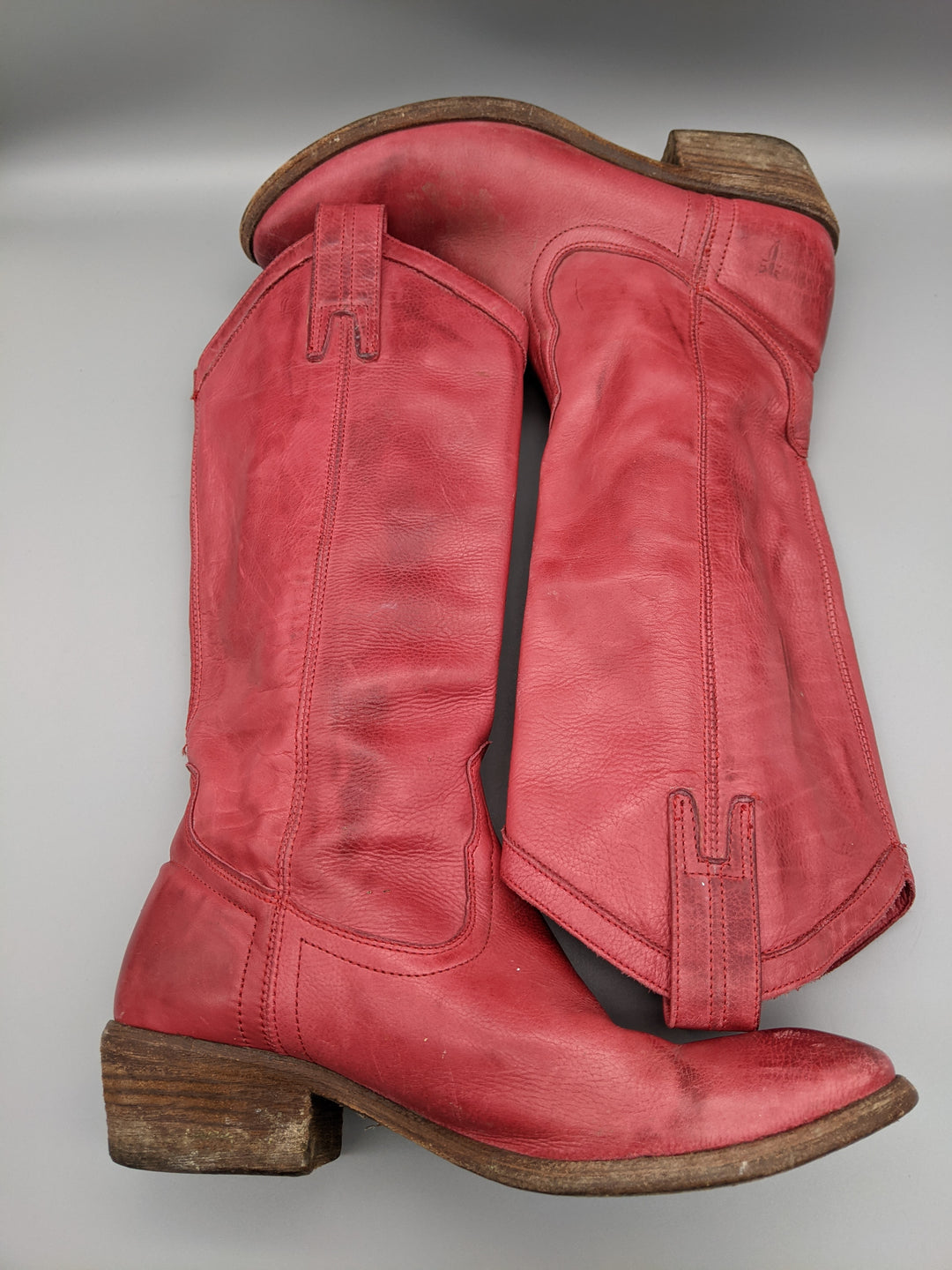 Photo #5 - BRAND: FRYE <BR>STYLE: BOOTS KNEE <BR>COLOR: RED <BR>SIZE: 6.5 <BR>SKU: 115-115336-4192<BR>SOME WEAR