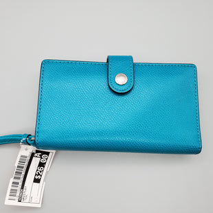 Primary Photo - BRAND: COACH STYLE: WRISTLET COLOR: TEAL SKU: 115-115314-4979GOOD CONDITION, MINOR STAINING ON LEATHER