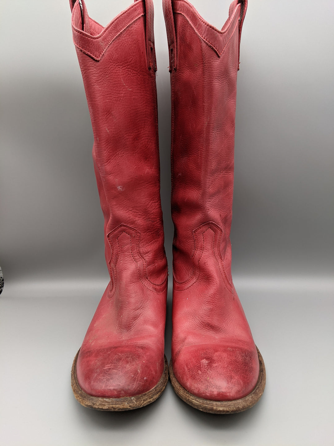 Photo #1 - BRAND: FRYE <BR>STYLE: BOOTS KNEE <BR>COLOR: RED <BR>SIZE: 6.5 <BR>SKU: 115-115336-4192<BR>SOME WEAR