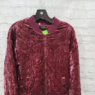 Primary Photo - BRAND: JUICY COUTURE STYLE: BLAZER JACKET COLOR: RASPBERRY SIZE: S OTHER INFO: VELVET SKU: 115-115309-21268