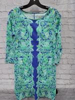 Primary Photo - BRAND: LILLY PULITZER <BR>STYLE: DRESS SHORT LONG SLEEVE <BR>COLOR: BLUE GREEN <BR>SIZE: XS <BR>SKU: 115-115338-4358
