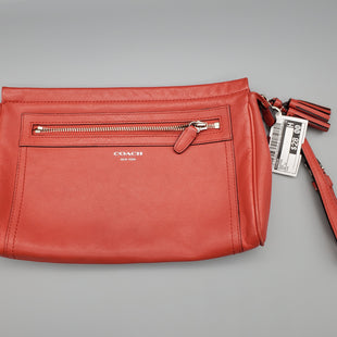 Primary Photo - BRAND: COACH STYLE: CLUTCH COLOR: RED OTHER INFO: AS IS SKU: 115-115260-92556MINOR MARKINGS/STAINING ON LEATHER (PICTURED)