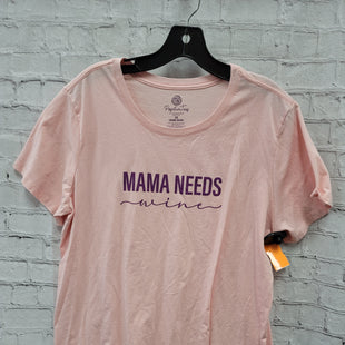 Primary Photo - BRAND:   CMC STYLE: TOP SHORT SLEEVE COLOR: PINK SIZE: 3X OTHER INFO: POSITIVE TEES - MAMMA NEEDS WINE SKU: 115-115309-21043