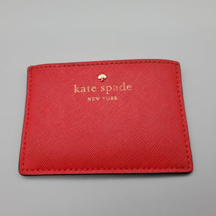 Primary Photo - BRAND: KATE SPADE STYLE: COIN PURSE COLOR: RED SIZE: SMALL SKU: 115-115340-1268GOOD CONDITION, MINOR WEAR THROUGHOUT