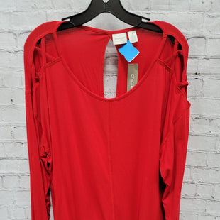 Primary Photo - BRAND: ZENERGY BY CHICOS STYLE: TOP LONG SLEEVE COLOR: RED SIZE: XXL OTHER INFO: NWT SKU: 115-115302-17383