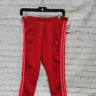 Primary Photo - BRAND: ADIDAS STYLE: ATHLETIC PANTS COLOR: RED SIZE: L OTHER INFO: STRIPES SKU: 115-115309-20039