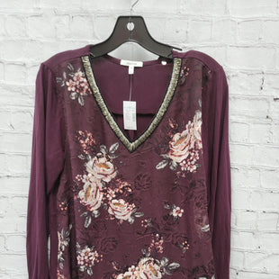 Primary Photo - BRAND: MAURICES STYLE: TOP LONG SLEEVE COLOR: BURGUNDY SIZE: L OTHER INFO: NEW! SKU: 115-11545-100528