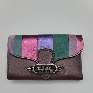 Primary Photo - BRAND: COACH STYLE: WALLET COLOR: BURGUNDY SIZE: MEDIUM OTHER INFO: NWT SKU: 115-115309-19800