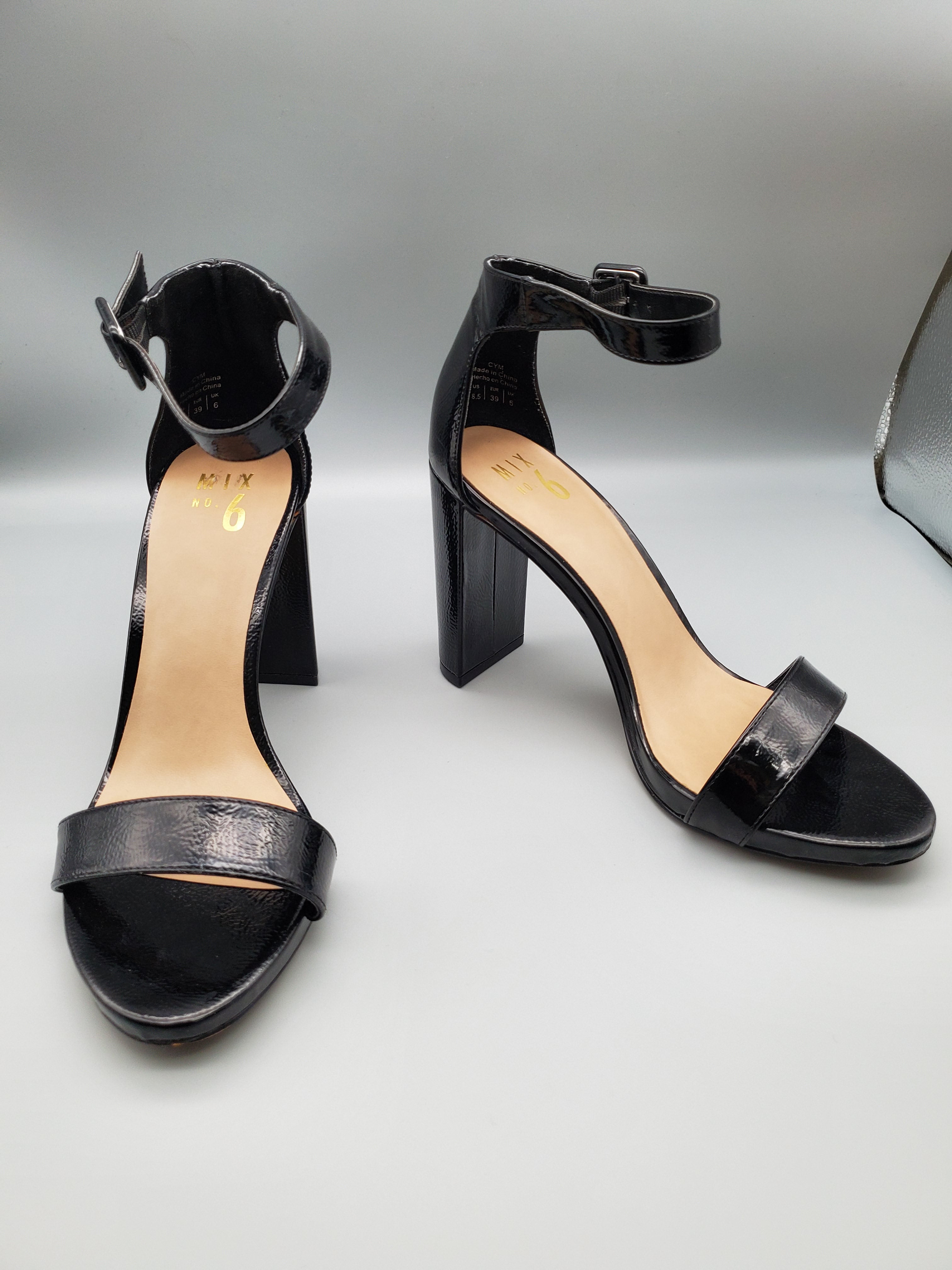 Primary Photo - BRAND: MIX NO 6 <BR>STYLE: SHOES HIGH HEEL <BR>COLOR: BLACK <BR>SIZE: 8.5 <BR>SKU: 115-115335-1958<BR>LITTLE TO NO WEAR/SCUFFING