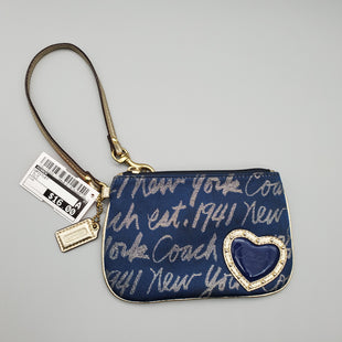 Primary Photo - BRAND: COACH STYLE: WRISTLET COLOR: BLUE OTHER INFO: GOLD SKU: 115-115309-11158GREAT CONDITION, MINOR WEAR