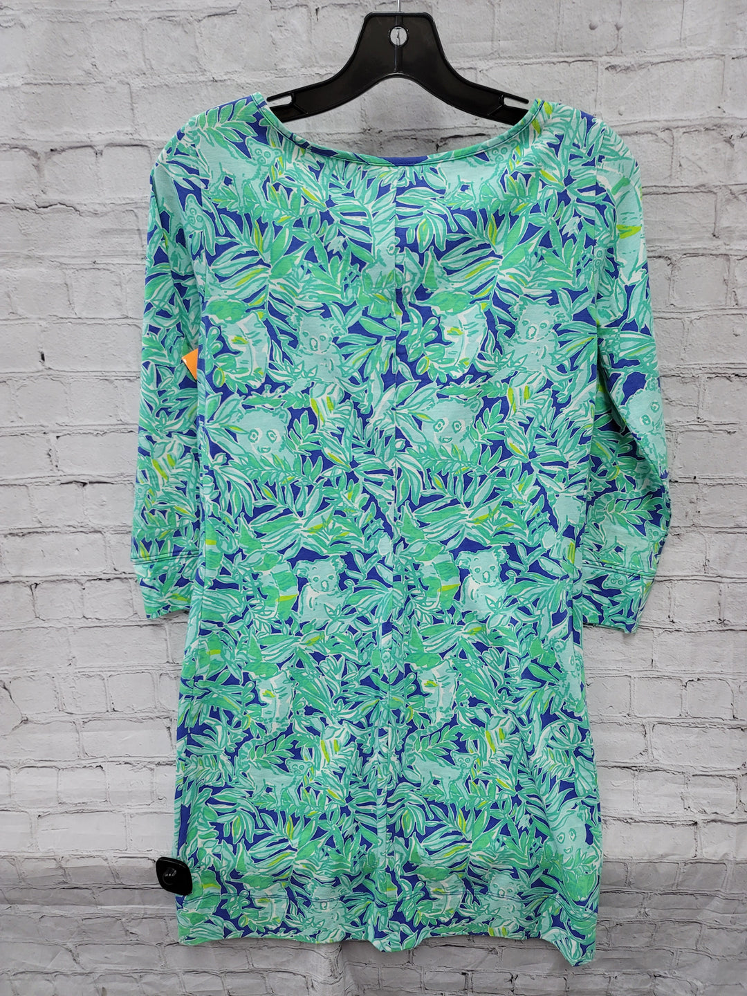 Photo #1 - BRAND: LILLY PULITZER <BR>STYLE: DRESS SHORT LONG SLEEVE <BR>COLOR: BLUE GREEN <BR>SIZE: XS <BR>SKU: 115-115338-4358