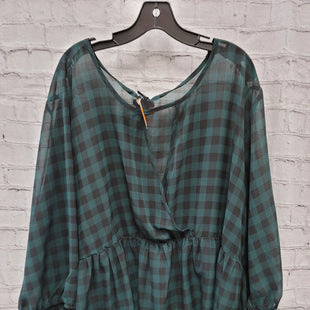 Primary Photo - BRAND: TORRID STYLE: TOP LONG SLEEVE COLOR: GREEN SIZE: 5 OTHER INFO: SHEER SKU: 115-115309-21046