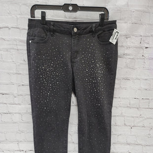 Primary Photo - BRAND: BEBE STYLE: PANTS COLOR: BLACK DENIM SIZE: 12 OTHER INFO: EMBELLISHMENTS SKU: 115-115347-3748