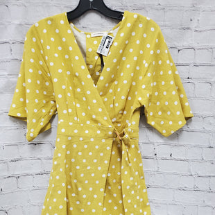 Primary Photo - BRAND: BLU PEPPER STYLE: DRESS SHORT SHORT SLEEVE COLOR: MUSTARD SIZE: S OTHER INFO: WHITE POLKA DOTS SKU: 115-115309-17156