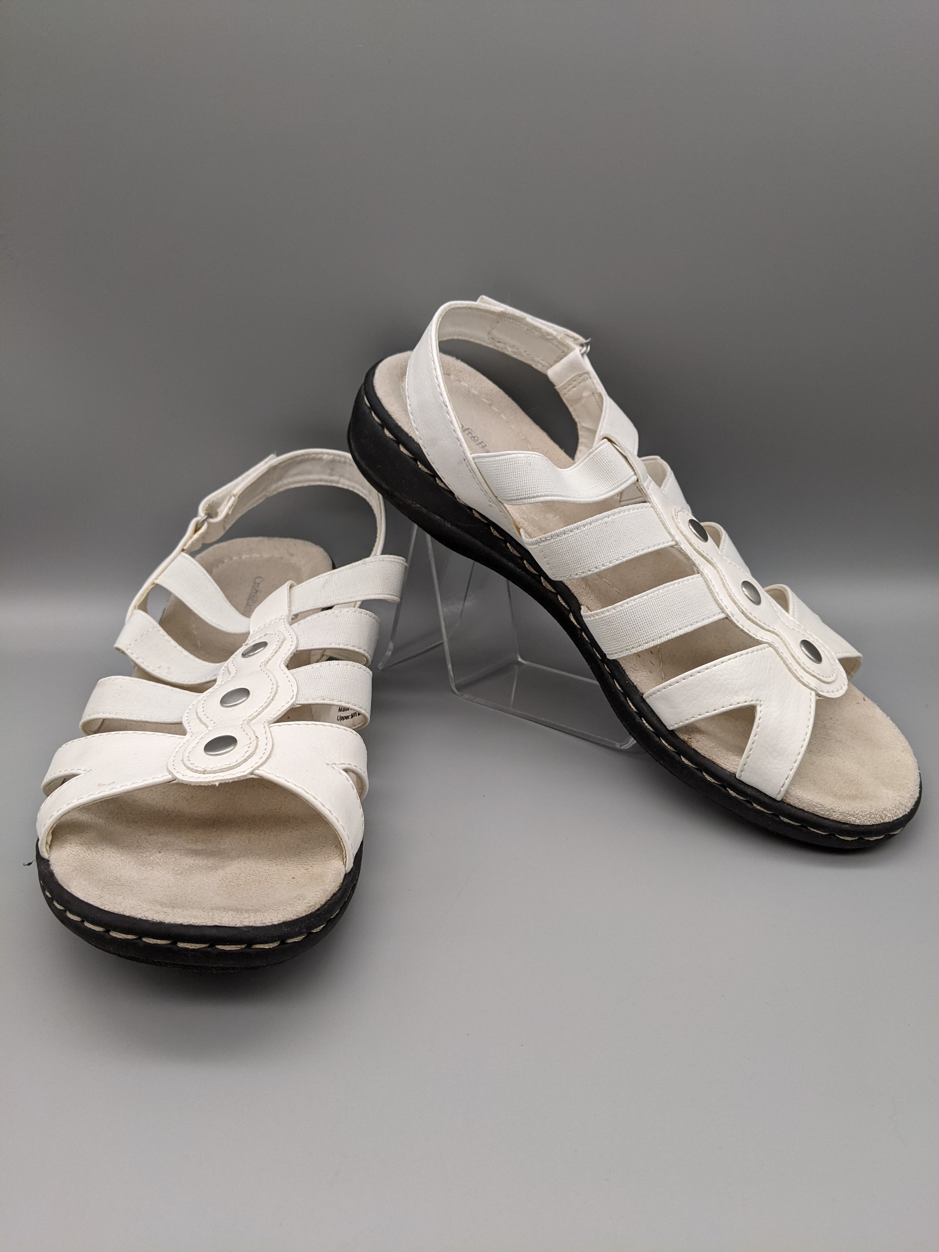 Primary Photo - BRAND: CROFT AND BARROW <BR>STYLE: SANDALS FLAT <BR>COLOR: WHITE <BR>SIZE: 9 <BR>SKU: 115-115336-4986<BR>SOME WEAR