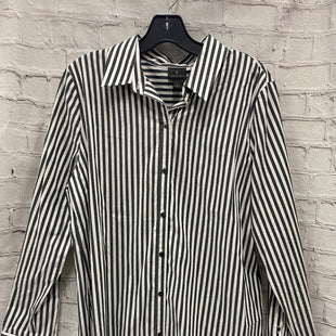 Primary Photo - BRAND: WORTHINGTON STYLE: TOP LONG SLEEVE COLOR: GREY WHITE SIZE: L OTHER INFO: STRIPES SKU: 115-115309-16628