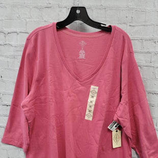 Primary Photo - BRAND: ST JOHNS BAY STYLE: TOP SHORT SLEEVE COLOR: PINK SIZE: 3X SKU: 115-115336-3637