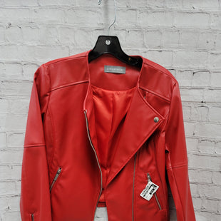 Primary Photo - BRAND:    CLOTHES MENTOR STYLE: BLAZER JACKET COLOR: RED SIZE: S OTHER INFO: BAGATELLE - FAUX LEATHER SKU: 115-115309-21536